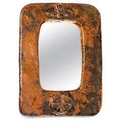 Mid Century Modern Small French Ceramic Mirror