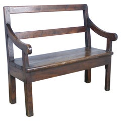 Small French Chestnut Seat or Bench