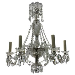 Small French Cut Glass Chandelier