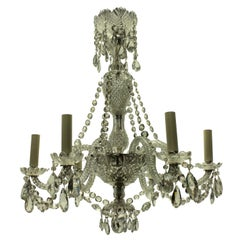 Small French Cut-Glass Chandelier