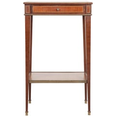 Small French Early 20th Century Inlay Table