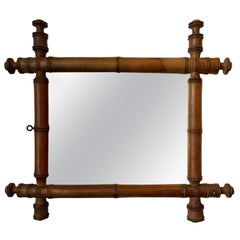 Small French Faux Bamboo Mirror