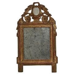 Small French Giltwood Louis XVI Style Mirror