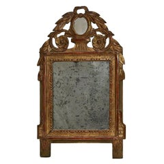 Small French Giltwood Louis XVI Style Mirror