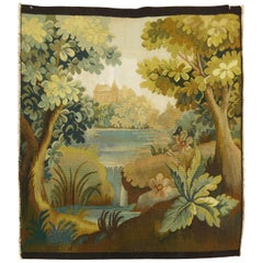 Small French Green Tapestry Wall Hanging