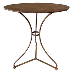 Small French Iron Bistro Garden Table