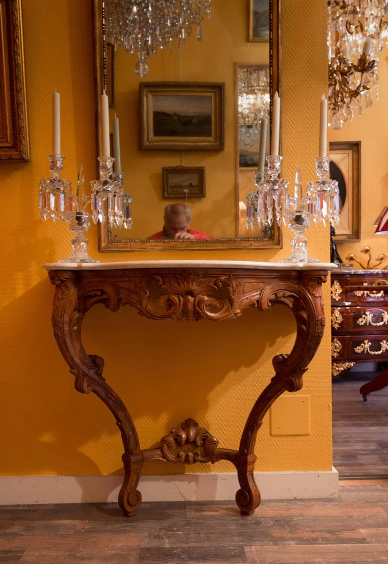 Small French Louis XV Style Console Table, circa 1850 In Good Condition For Sale In Saint Ouen, FR