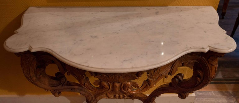 19th Century Small French Louis XV Style Console Table, circa 1850 For Sale