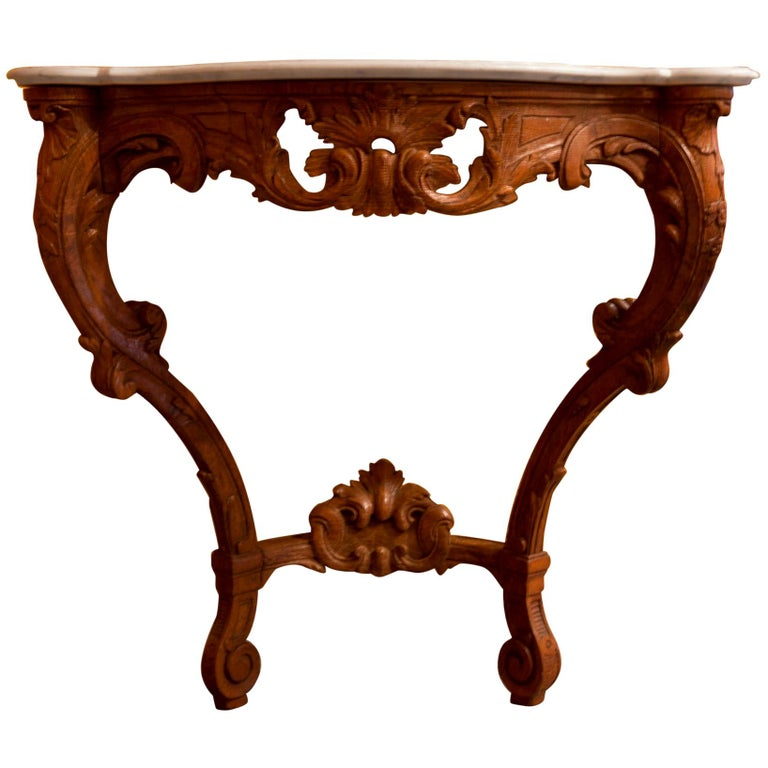 Small French Louis XV Style Console Table, circa 1850 For Sale