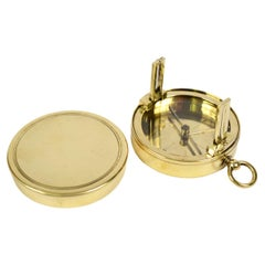 Small French-Made Brass Compass Second Half of the 19th Century