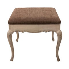 Small French Provincial Style Upholstered Bench, circa 1900s