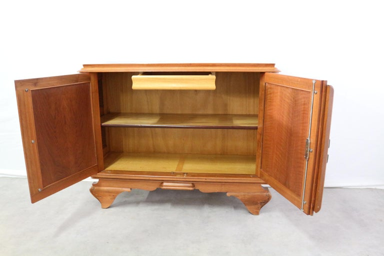 Mid-Century Modern Small French Sideboard Credenza Buffet Walnut Midcentury For Sale