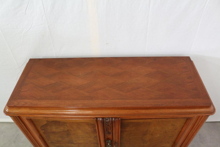 Small French Sideboard Credenza Buffet Walnut Midcentury In Good Condition For Sale In Labrit, Landes