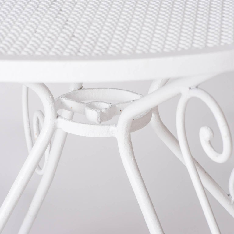 Small French White Painted Garden Table, circa 1950 For Sale 2