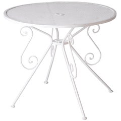Small French White Painted Garden Table, circa 1950