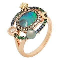 Small Galaxy Opal Ring