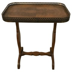 Small Galleried French Style Trestle Table by Baker