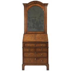 Small George I Walnut Bureau Bookcase