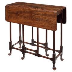 Small George II Mahogany Drop-Flap Spider-Leg Table