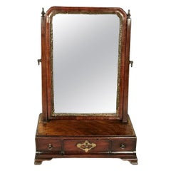 Small George III Period Mahogany Dressing Toilet Mirror
