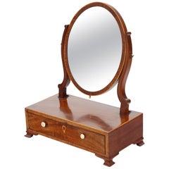 Small Georgian Mahogany Dressing Table Swing Mirror, circa 1800