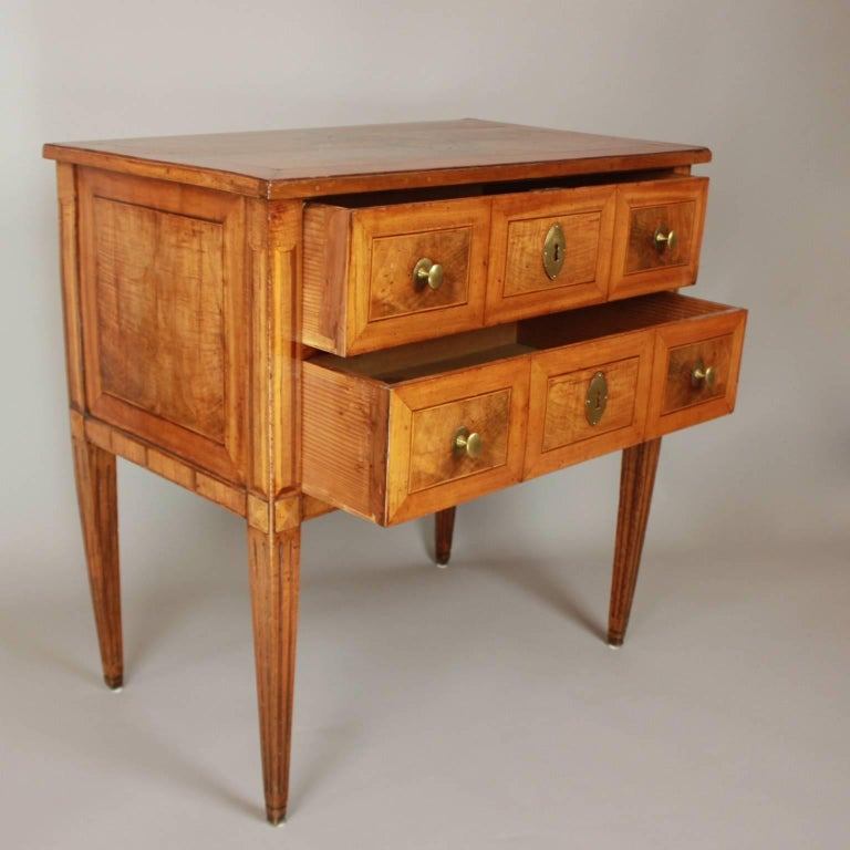 Louis XVI Small German Neoclassical Marquetry Commode or Chest of Drawer, 18th Century For Sale