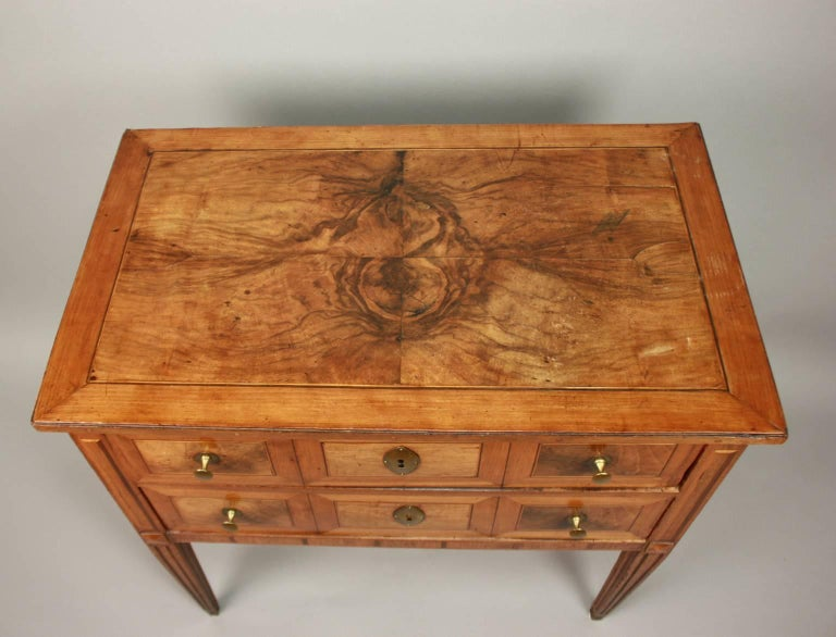 Small German Neoclassical Marquetry Commode or Chest of Drawer, 18th Century For Sale 2