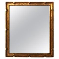 Small Gilt Scalloped Mirror