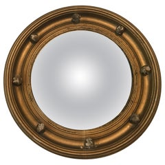 Small Giltwood Convex Mirror, English, circa 1900