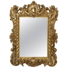 Small Giltwood Regence Style Mirror, circa 1880
