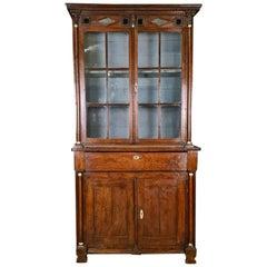 Small Glazed Oak Display Cupboard