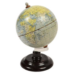 Small Globe Made of Lithographed Tin, Early 1950s