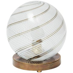 Small Globe Venini Table Lamp