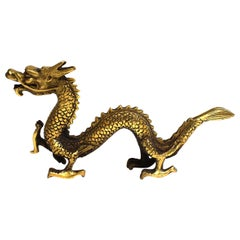 Small Gold Bronze Dragon