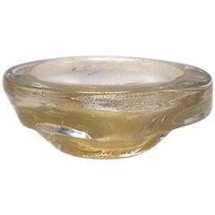 Small Gold Murano Glass Bowl, circa 1960