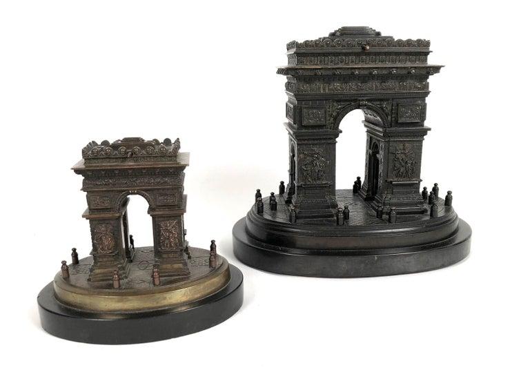 Small Grand Tour Bonze Architectural Model of the Arc De Triomphe in Paris For Sale 2