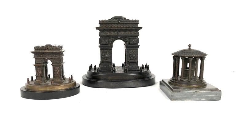 Small Grand Tour Bonze Architectural Model of the Arc De Triomphe in Paris For Sale 3