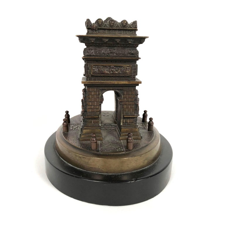 Neoclassical Small Grand Tour Bonze Architectural Model of the Arc De Triomphe in Paris For Sale