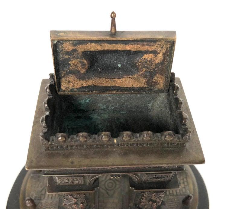 Bronze Small Grand Tour Bonze Architectural Model of the Arc De Triomphe in Paris For Sale