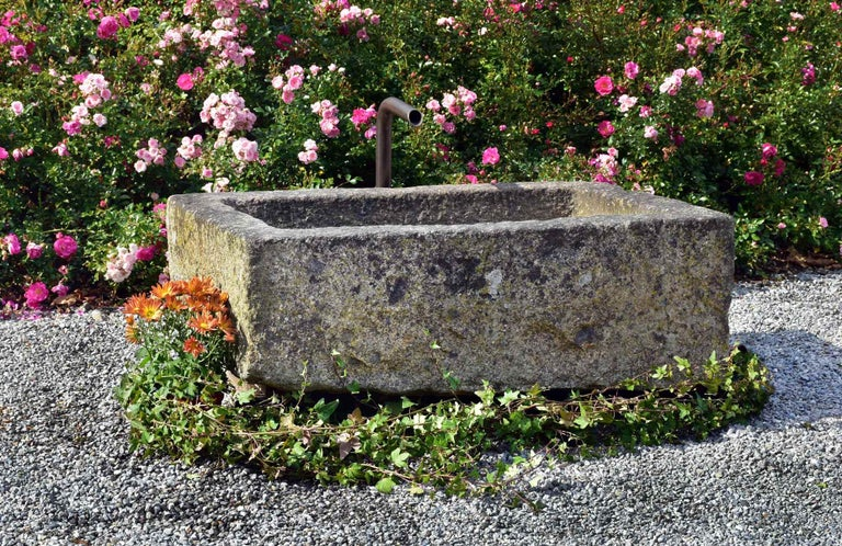 French Small Granite Fountain, 18th Century, France For Sale
