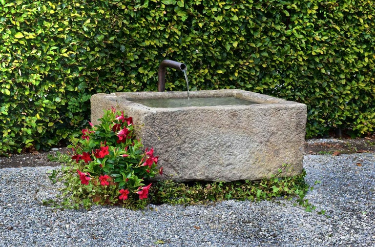 A very nice trough from France - Vichy. Granite trough with good capacity