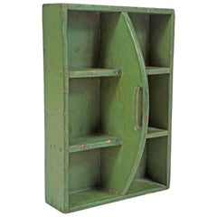 Small Green Tool Box or Hanging Shelf