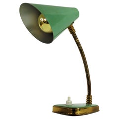 Small Green Vintage Desk Lamp Made in Italy, 1950s