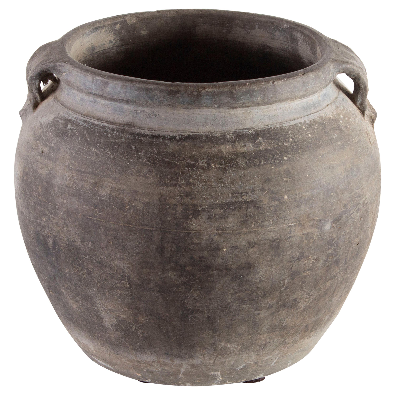 Small Dusty Grey Ceramic Pot