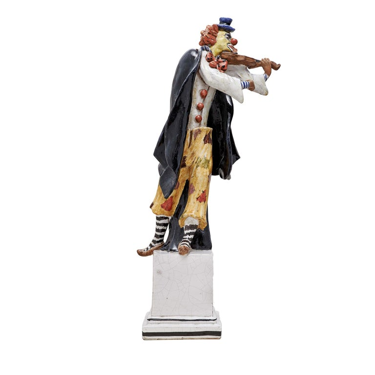 Small Grock Clown Statue by Ceccarelli In New Condition For Sale In Milan, IT