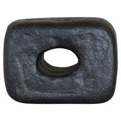 Small Handbuilt Metallic Black Ceramic Sculpture