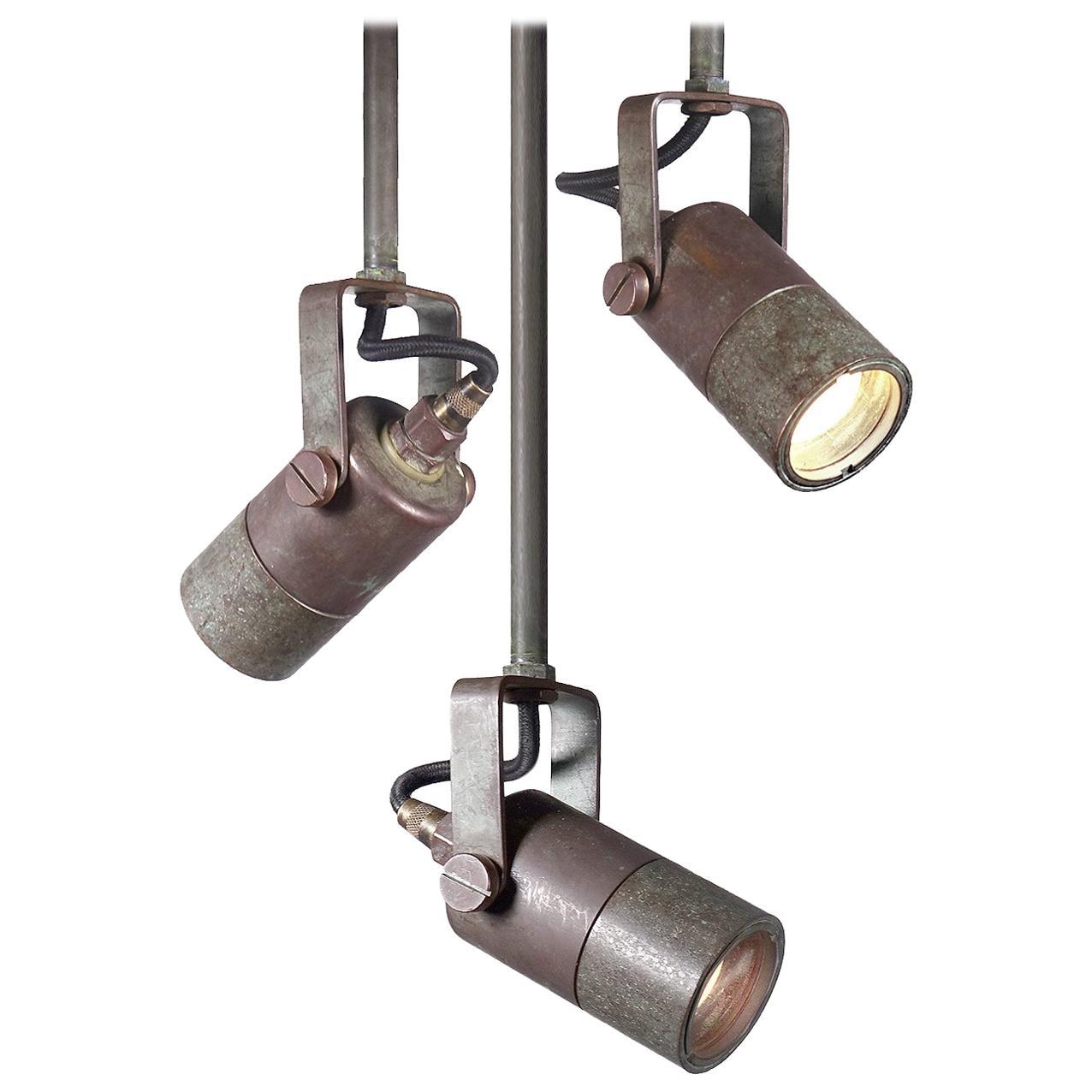 Small Heavy Brass Articulated Spot Lights