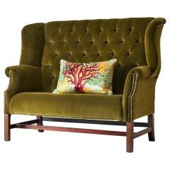 Small High Backed Sofa