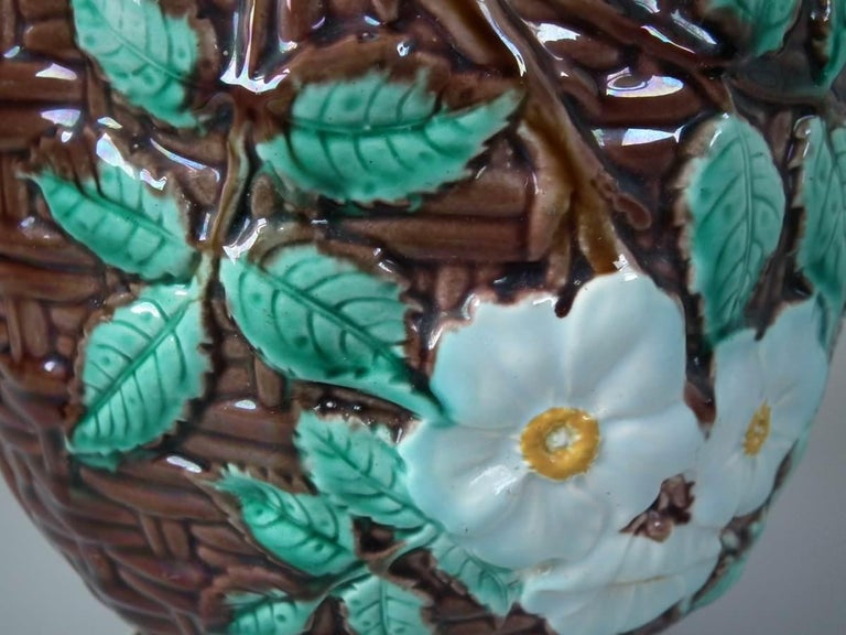 Small Holdcroft Majolica Floral Jardiniere For Sale 10