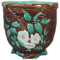 Small Holdcroft Majolica Floral Jardiniere